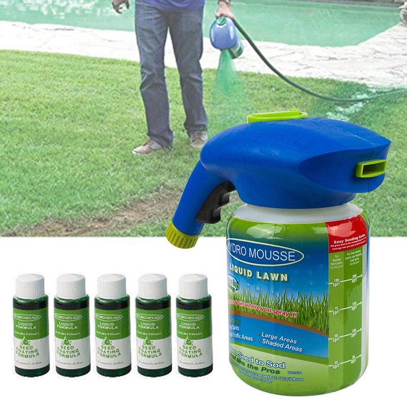 1PC New Household Seeding System Liquid Spray Seed Lawn Care Grass Shot
