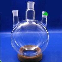 5000ml,29/32*3,3 neck,Round bottom straight Glass flask,Lab Boiling Flasks,Three neck laboratory glassware
