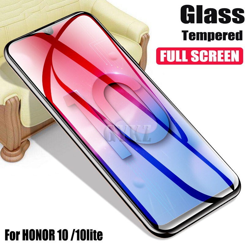 Full Screen Covered Tempered Glass For HUAWEI Honor 10 lite Anti Blu ray Protective Glass For