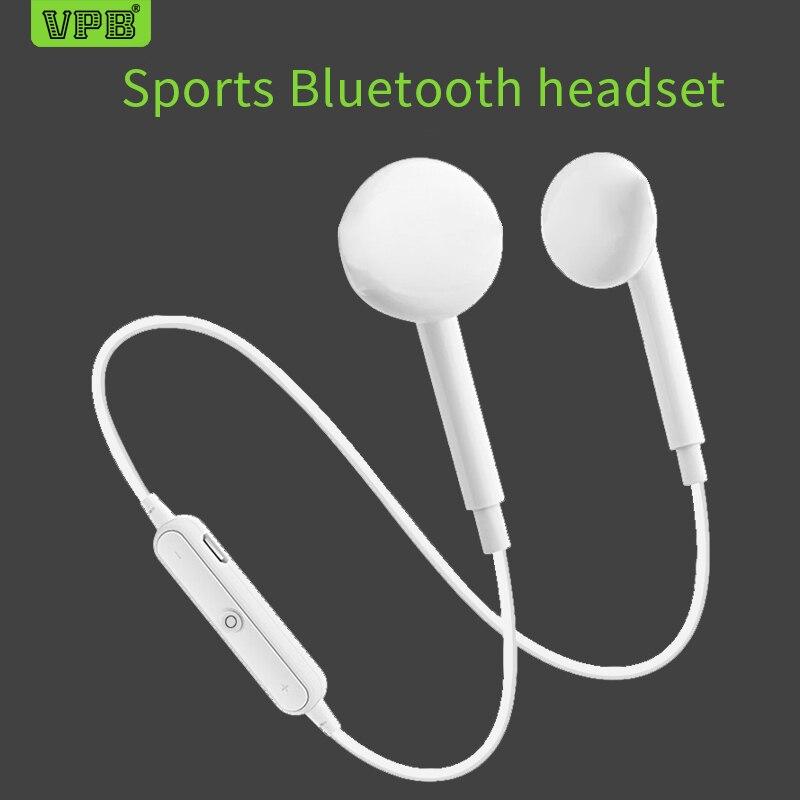 VPB S6 wireless mobile Bluetooth headset  music running earplugs type stereo binaural wholesale. chifres malevola png