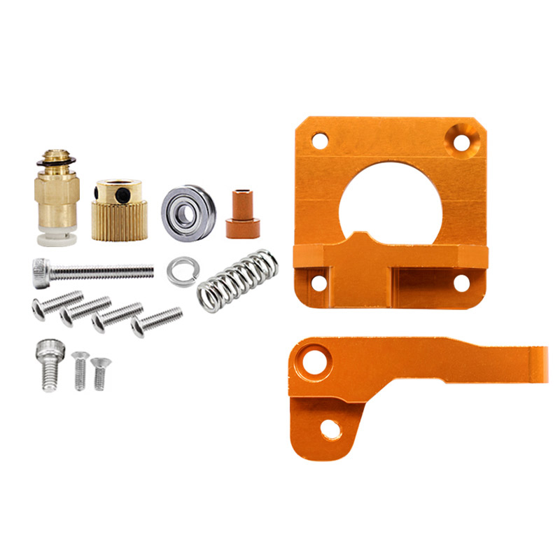 15Pcs/Set 3D Printer Extruder Cr10 Extruder Remote Extruded Metal Block Oxidized Sandblasting Fittings-in 3D Printer Parts & Accessories from Computer & Office