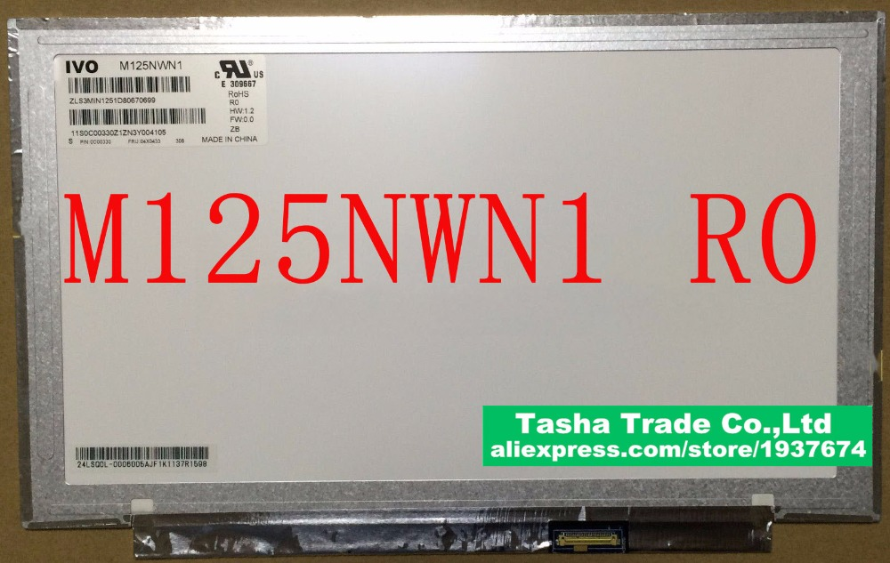 M125NWN1 R0 For Lenovo X230S X240S X250 Matrix Laptop Screen EDP 30PIN