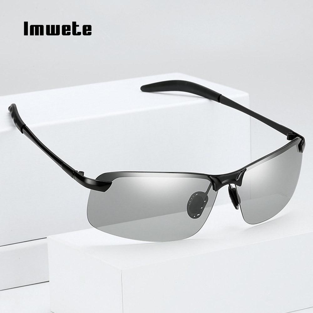 343f692a72183 Polarizada Óculos De Sol Dos Homens Óculos de Sol Fotocromáticas Imwete  Chameleon Descoloração óculos de Sol Dia e Noite Óculos de Condução Segura  3040