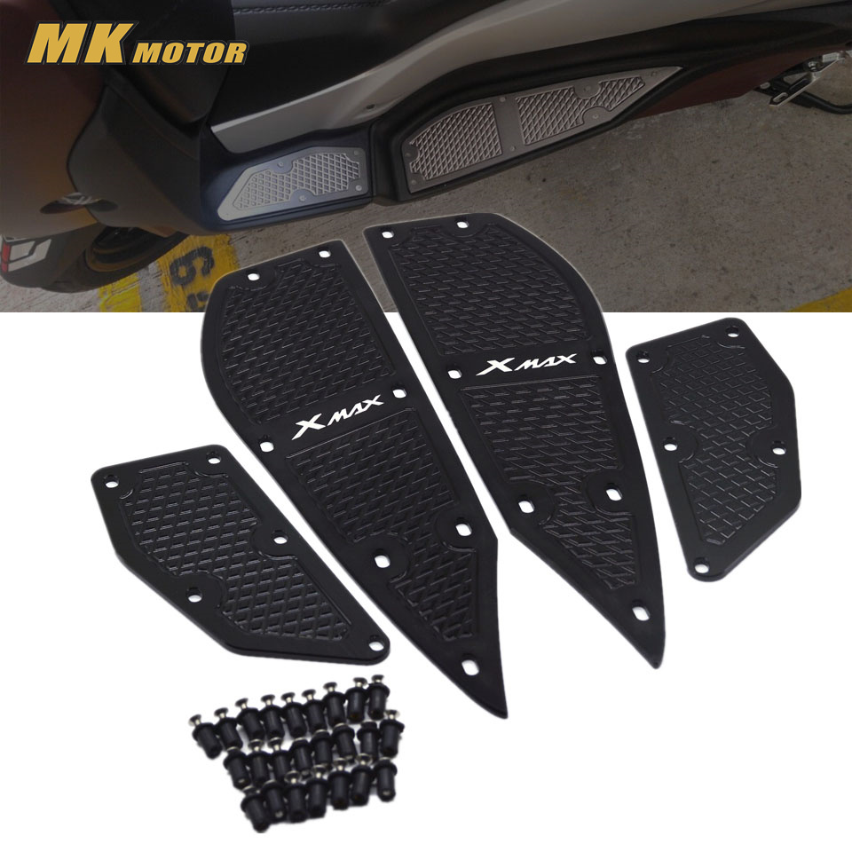 X MAX Motorcycle Modified parts mats CNC footrest footpads Aluminum alloy pedal plate For Yamaha XMAX X-MAX 250 300 2017-2018