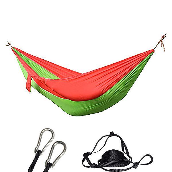 Camping Hammock - Portable Lightweight Double Adult Hanging Sleeping Bed With Straps And Carabiner For Garden Outdoor Travel H