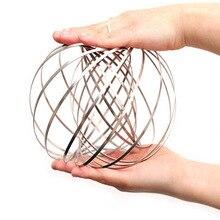 Волшебный Flowtoy волшебный браслет кольцо потока Kenetic Весенняя Игрушка антистресс 3D скульптура Непоседа металлическая игрушка для детей-35