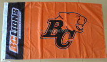 BC Lions Flag 3x5FT CFL banner 100D 150X90CM Polyester brass grommets custom66,free shipping