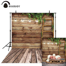 Allenjoy spring baby backdrops for photography vintage wood ladder grass children photocall photobooth prop vinyl backgrounds