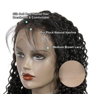Image 4 - Ali Grace perulu 13x6 13X4 dantel ön peruk bebek saç ile Kinky kıvırcık dantel ön İnsan saç peruk doğal renk 360 Frontal peruk