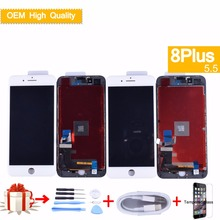 LCD For iPhone 8 Plus 8Plus LCD Display Touch Screen Digitizer Assembly Replacement Good 3D touch+Tempered glass film+USB Cable 183mm 142mm on display tm084sdhg50 new touch screen8 4inch glass 183 142 for table commercial use wl 8
