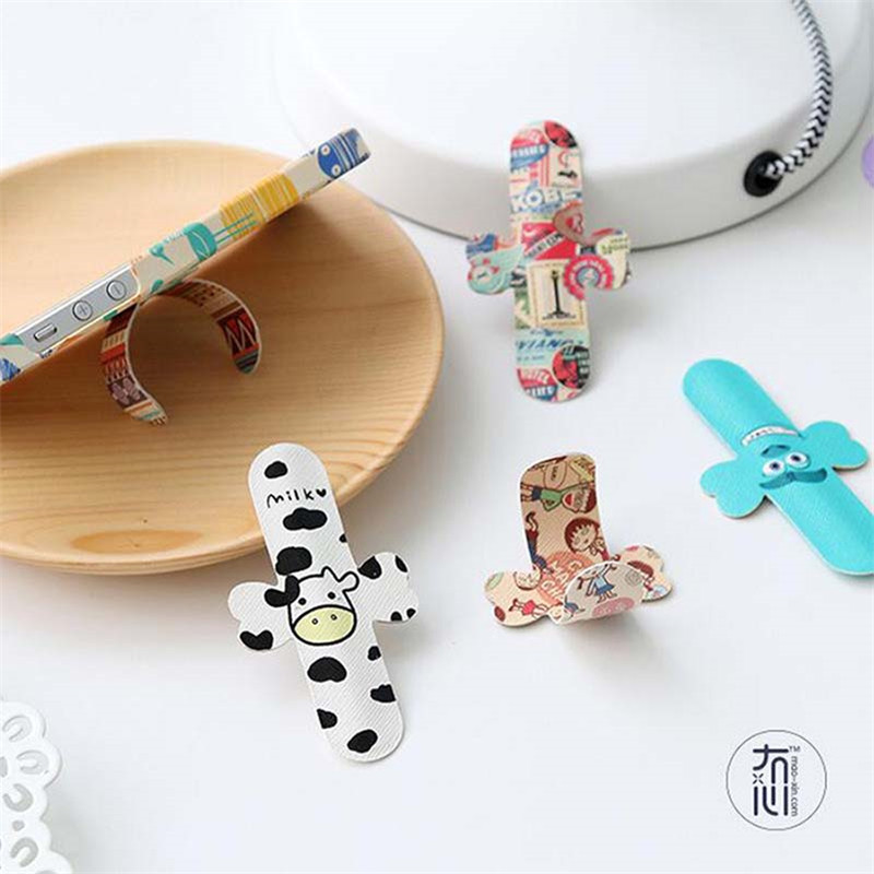 Self-adhesive Cartoon Mini Hide Phone Stand Paste Phone Holder Colorful Phone Decoration For IPhone 5s 6 6s 7 Xiaomi Samsung
