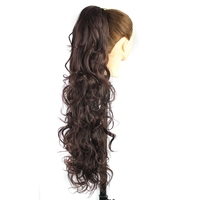 Luxury For Braiding 30inch 210g Long Wavy High Temperature Fiber Synthetic Hair Pieces Claw Clip Ponytail