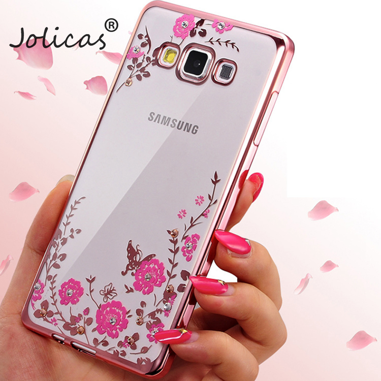 Soft TPU Flower case For Samsung Galaxy S8 Plus J1 2016 J3 J5 J7 A3 A5 2017 A7 S6 S7 Edge Grand Prime Plating Cover Phone Case