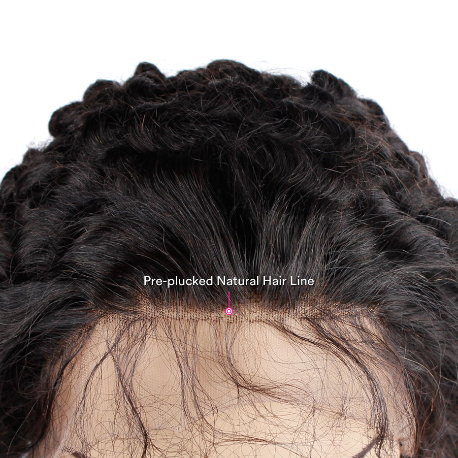 MS Lula Pre Plucked 360 Lace Frontal Closure with Baby Hair Natural Hairline Brazilian Body Wave Human Remy Hair Free Shipping