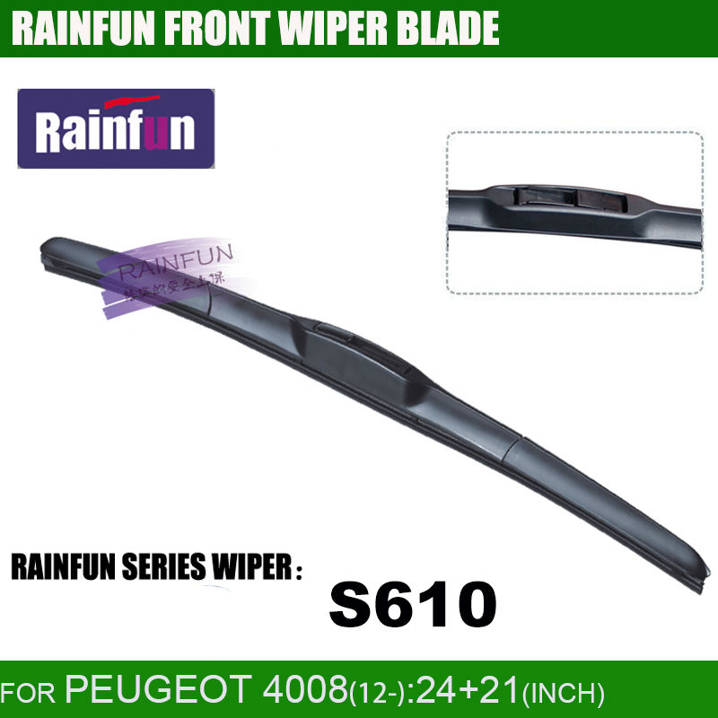"""RAINFUN специальный автомобиль стеклоочистителя для PEUGEOT 4008(12-), 2""""+ 21"""" автоматический стеклоочиститель с высоким качеством натурального каучука, 2 шт в партии"""