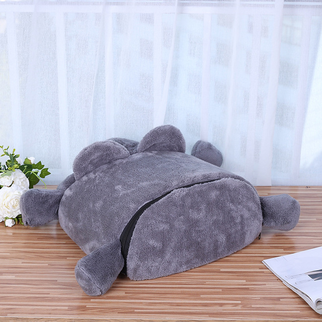 Grey Mouse Shape Bed For Small Cats Dogs Cave Bed Removable Cushion,Waterproof Bottom Cat House Mouse For Cats Pet Products  5