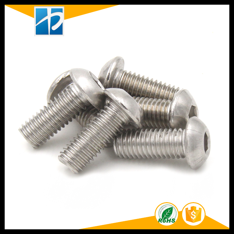 (10 pc/lot) M5,M6,M8 *L =8~50mm ISO7380 Stainless Steel A2 Hex socket button head cap toy screw 50pcs lot iso 7380 m3 x 8 titanium button head hex socket screw