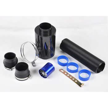 For Cold Air Intake Kit Carbon Fiber Filter Turbo Flexible Ducting Hose Pipe Fan [QPL426]