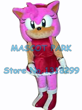 mascot popular cartoon pink Amy Rose hedgehog mascot costume adult size hot sale anime cosplay costumes carnival fancy dress