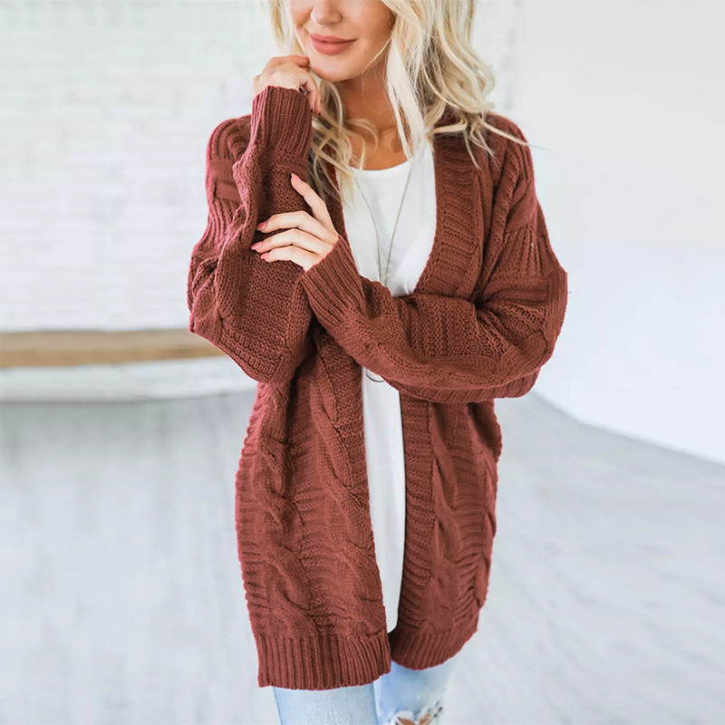 2018 New Fashion Women Knitted Sweater Coat Autumn And Spring Long Sleeve Cardigan Jacket Female Casual Outwear Tops Pull Femme