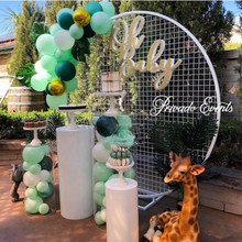 wedding decoration Iron circle mesh arch Ring background a wreath shelf for party & A ring frame balloon