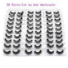 Mikiwi 30 пар/упак. 3D норковые ресницы с лотком, без коробки, ручная работа, полные ресницы, норковые накладные ресницы, макияж, ресницы, cilios