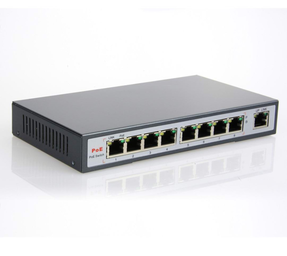 9 Port Switch 8 Port AF PoE Ports and One Ethernet Uplink IEEE802.3af(15.4W)