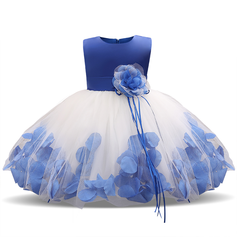 a2cc901c5 Newborn Baby Girl 1 Year Birthday Dress Petal Tulle Tutu Toddler ...