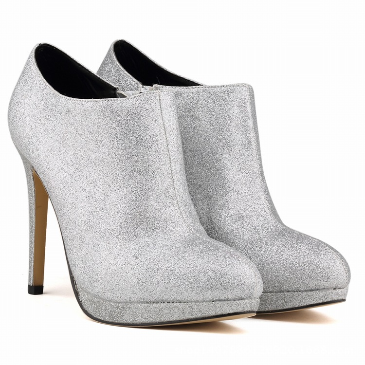 2016 Women Boots Autumn Winter Ankle Boots Fashion Round Toe Thin High Heels Shoes Woman Warm Short Boots SMYNLK-C0139