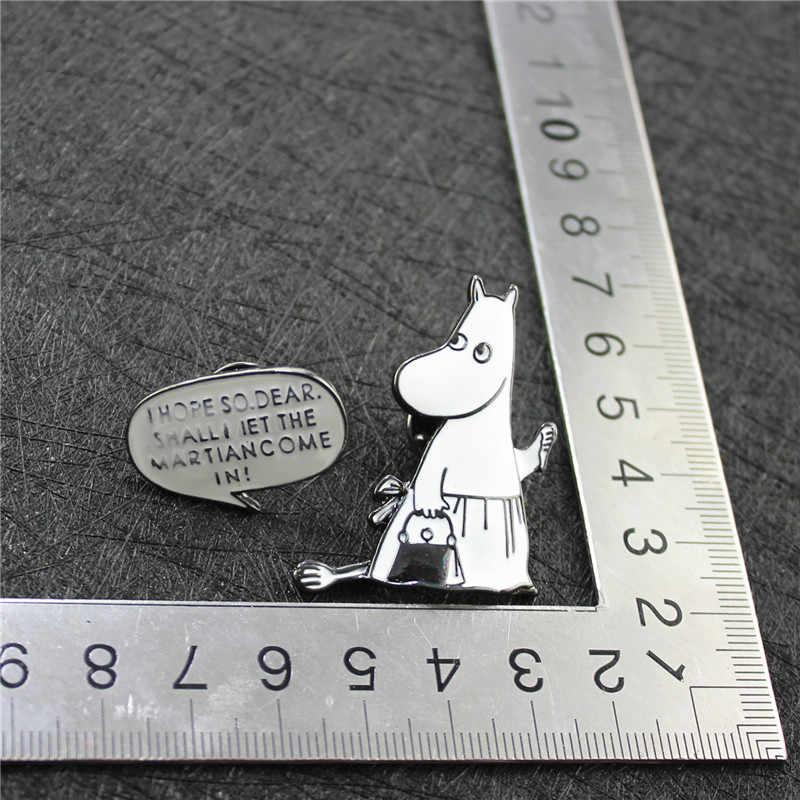 XQ Fashion Wanita Perhiasan Putih Enamel Lucu Nakal Kelinci Kerah Jarum Pin Wanita Bros Aksesoris Grosir Pabrik Qingdao