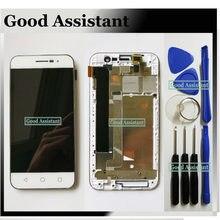 Branco de alta qualidade 4.7 polegada para coolpad porto e560 display lcd + touch screen digitador assembléia com quadro ferramentas gratuitas