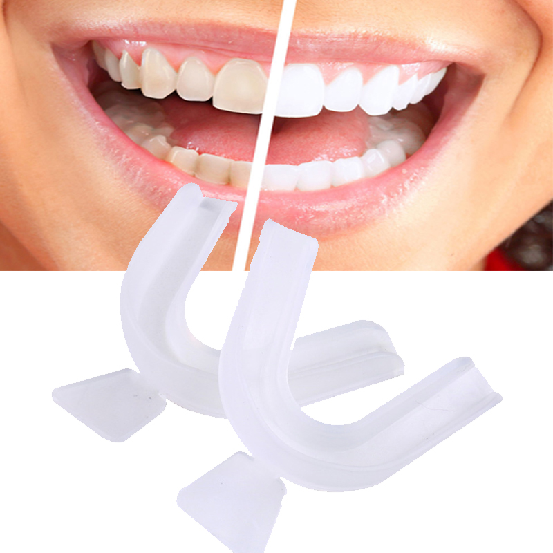 2pcs/lot Silicone Night Mouth Guard For Teeth Clenching Grinding Dental Bite Sleep Aid Whitening Teeth Mouth Tray