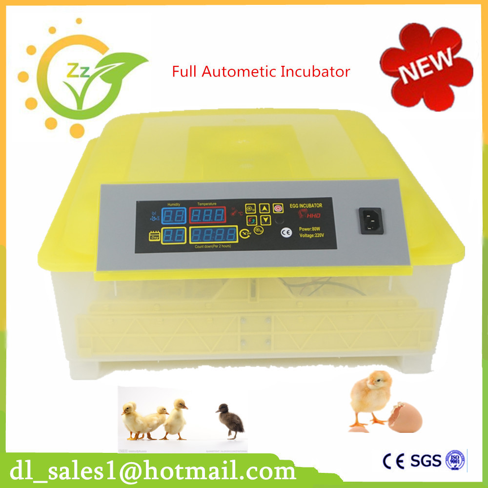 1 Piece Industrial Brooder Hatchery Machine Fully Automatic Egg Incubator For Hatching 48 Chicken Duck Quail Bird Poultry Eggs ce certificate poultry hatchery machines automatic egg turning 220v hatching incubators for sale