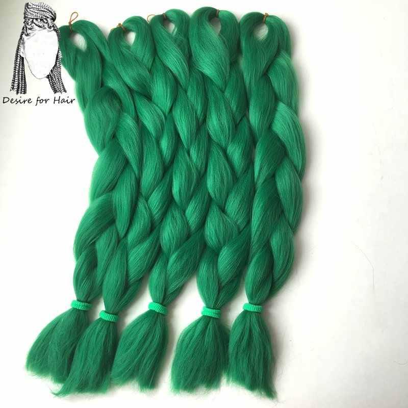 Desire for hair 1 упаковка 24 дюймов 80 г 90 чистые цвета высокая температура синтетическое волокно jumbo плетение волос для небольших твист косы
