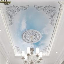 цена beibehang Custom Papel De Parede 3D Photo Mural Wall Paper Living Room flooring Sky ceiling Wallpaper TV Background Home Decor онлайн в 2017 году
