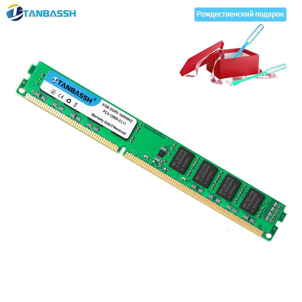 TANBASSH Ram DDR3 4GB/8GB 1333MHZ/1600MHz Desktop Memory 240pin 1.5V sell 4GB/8GB New DIMM for Intel/AMD