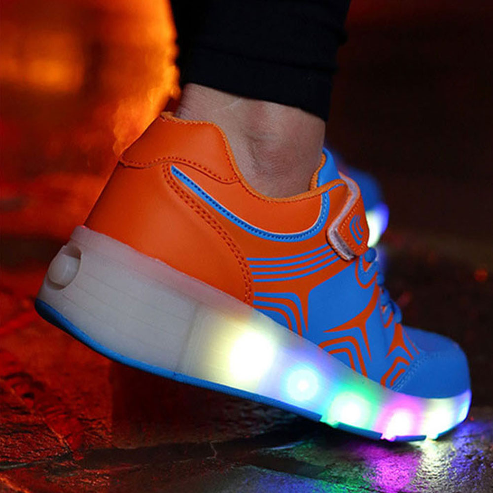 Heely skate shoes reviews - 2016 New Adult Child Led Heelys Jazzy Junior Girls Boys Led Light Wheelys Roller Skate Shoes For Kids Sneakers With Wheels Pink