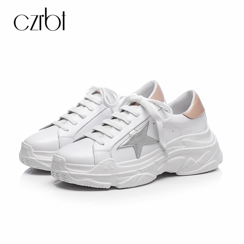Mujer Encaje 6 Casual Czrbt Caminar Verano A Cm Primavera Para Tacones Mano White 2018 Zapatos Mujeres Auténtico 5 Hecho Cuero Pisos C41TwCqa