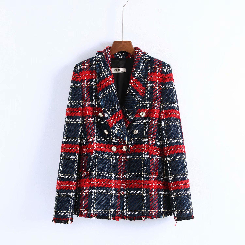 1981-90-8704 European Fashion Style Tweed Jacket Suit