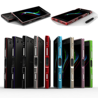 For Sony Xperia XZ1 Compact Bumper Cover Luxury Deluxe Ultra Thin Metal Aluminum Frame Case For