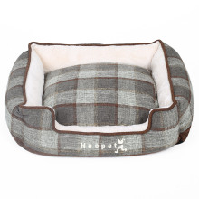 Soft Plaid Linen Bed for Pets