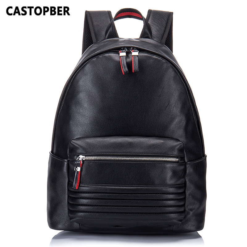 Fashion Backpack Designer Brand  European And American Style Cow Genuine Leather Travel Shoulder Bag Large Capacity High Quality 2016 new shades european style fashion brand designer metal sunglasses for women luxury quality large round sun glasses