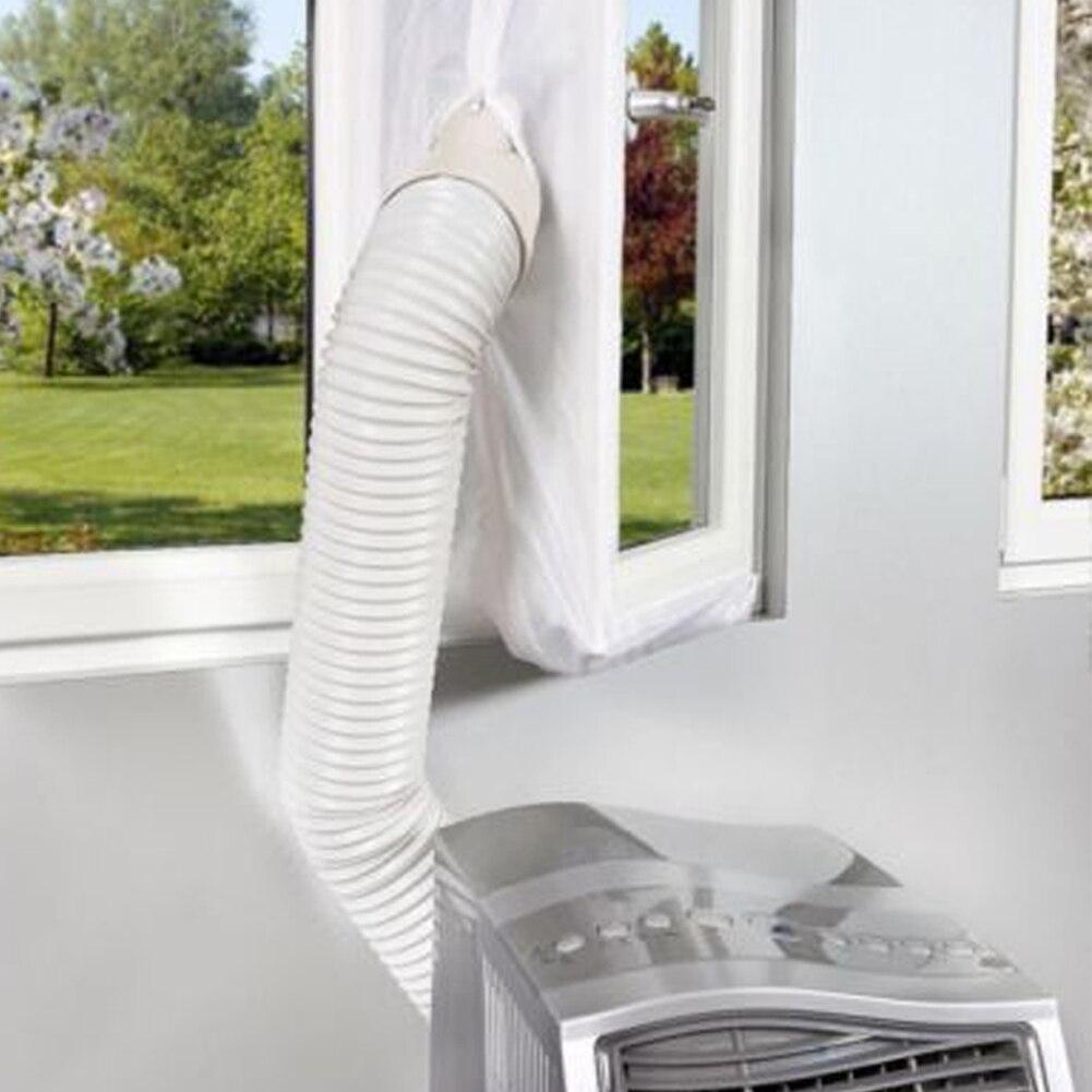 Гибкая ткань AirLock белая уплотнительная пластина мягкая доска Push Pull Window 4m для мобильного кондиционера