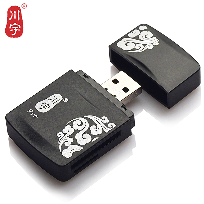 Kawau Microsd Card Reader 2.0 USB High Speed with TF SD MS Card Slot C285 Max Support 128GB Memory Card Reader for Computer