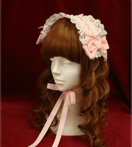 Princess sweet lolita headwear Pure and fresh and anime joker bow hair with hair COS lace headdress ZJY023