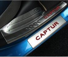 Нержавеющей Автомобиль Средства для укладки волос для Renault Captur 2014 2015 2016 порога Педали для автомобиля Накладка гвардии протектор