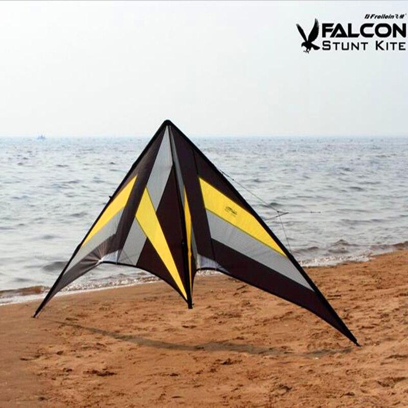Livraison gratuite haute qualité 2.5m falcon cerf-volant roulant ballet cascadeur cerfs-volants avec poignée ligne puissance cerf-volant volant jouets de plein air plus élevés - 2