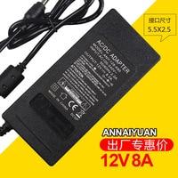 12V8A AC DC Adaptateur D'alimentation avec 8 Port Splitter Tresse pour moniteur/moderm 1 à 8 port adaptateur 12v8a Livraison gratuite