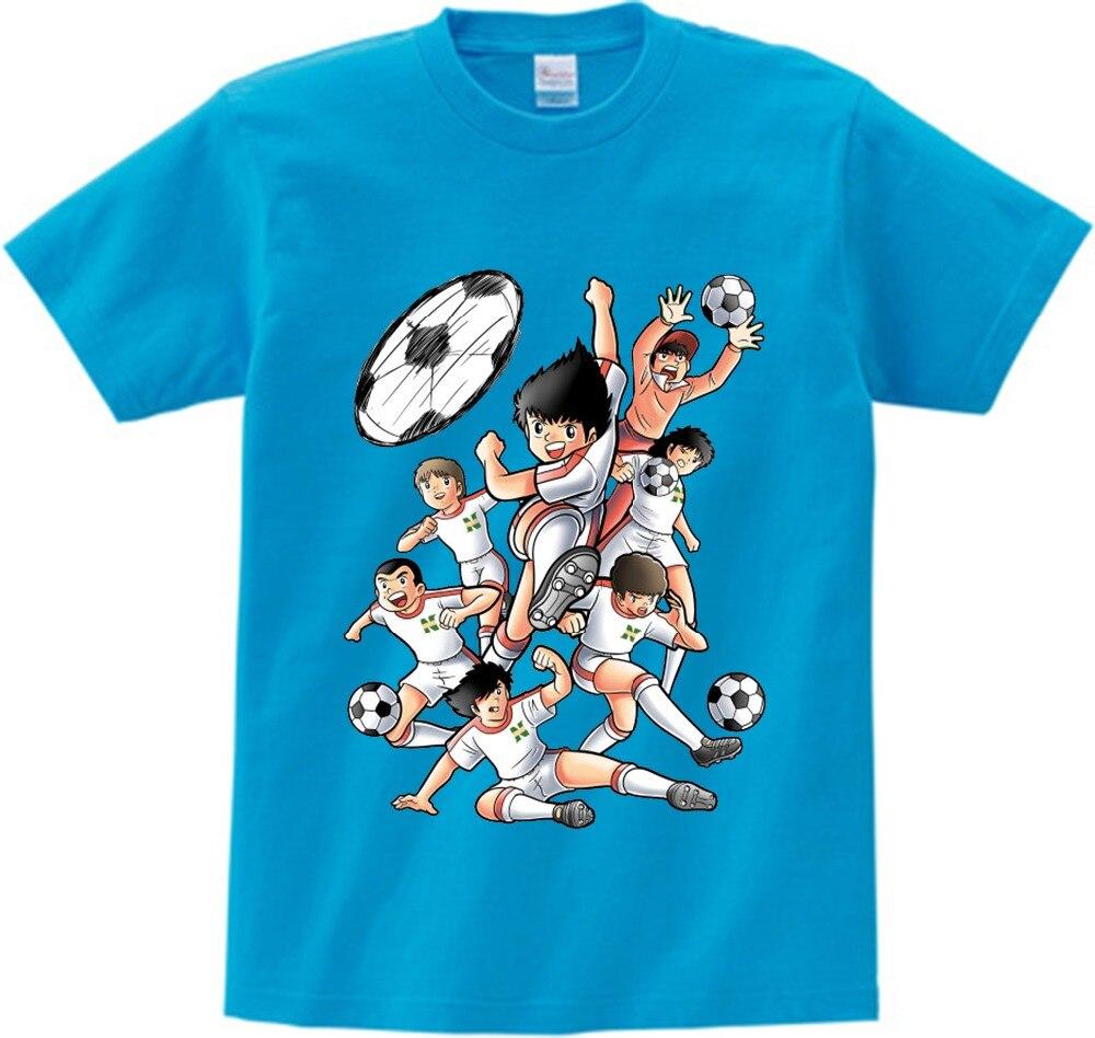 Anime Captain Tsubasa T Shirt Children Leisure Short Sleeve t shirt Boy Football motion T-shirts For Boys Girls 3T-8T NN 1