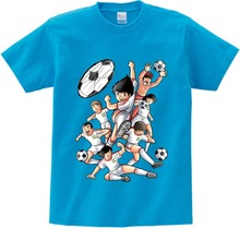 Anime Captain Tsubasa T Shirt Children Leisure Short Sleeve t shirt Boy Football motion T-shirts For Boys Girls 3T-8T NN